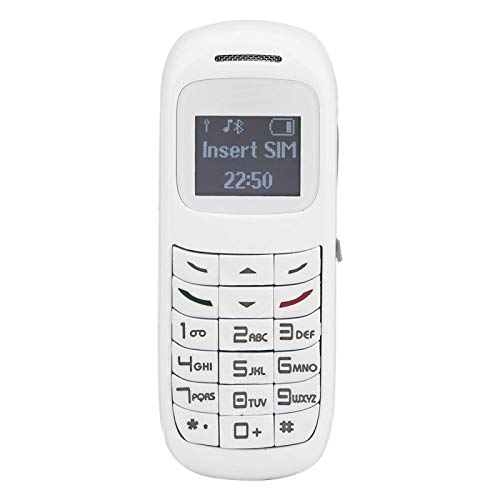 BOLORAMO Auriculares multifuncionales del Marcador del teléfono móvil de la radiación Baja del teléfono móvil Compacto, para la comunicación(Blanco)