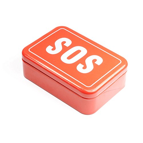 Tin Box - SOS, SOS, Little Helper Box for Travel, Outdoor Survival Kit - Emergency Self-Help, SOS, Ganzoo by Ganzoo