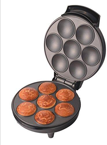 TRIOMPH ETF1604 Appareil à 7 Cupcakes, Noir