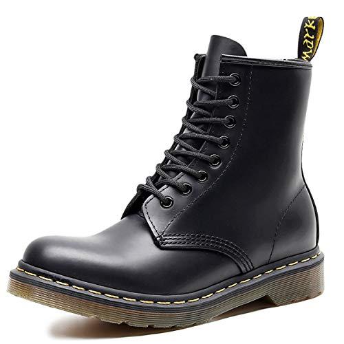 [WEWIN] マーチンブーツ ワークブーツ メンズ 本革 ハイカット 大きいサイズ 8ホール スムース エンジニアブーツ 厚底ブーツ 男女兼用 アウトドア カジュアル 防水 防滑 靴 おしゃれ