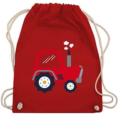 Shirtracer Fahrzeuge Kind - Kinder Traktor - Unisize - Rot - stoffbeutel kinder - WM110 - Turnbeutel und Stoffbeutel aus Baumwolle