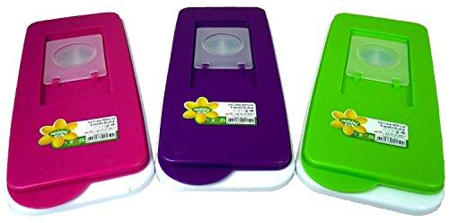 Demirel Plastik - Stampo per cubetti di ghiaccio, con coperchio, 2 pezzi
