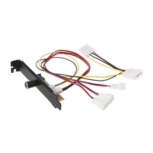 MIKI-Z Computadora de 3 Canales PC Controlador del Ventilador de refrigeración Regulador de Velocidad del Enfriador para PCI Regulación del Control de Temperatura CPU Alojamiento VGA HDD Fan