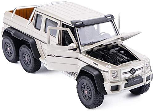 YQGOO Automodell Automodell Auto 1: 24 Kompatibel mit Mercedes Benz G63AMG 6X6 Geländewagen Modellsimulation...