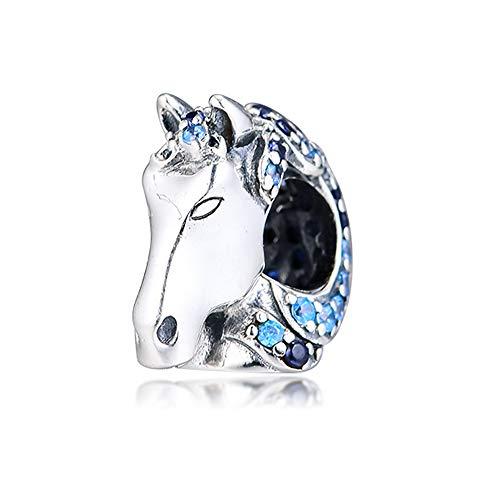 CHICBUY 2019 Winter Nokk Horse Bead 925 Silver DIY Fits for Original Pandora Bracelets Charm Fashion Jewelry