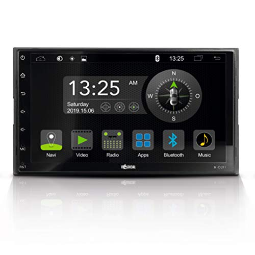 "RADICAL R-D211: 2-Din Android Autoradio, Multimediasystem mit DAB+, UKW, USB, Bluetooth, WiFi/WLAN, 7"" Touchscreen, App-Mirroring, Mediencenter mit offenem Android 9.0 OS"