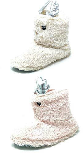 Carcassi Children's Kids Girls Novelty Reindeer Slipper Boots (Cream, Numeric_12_Point_5)