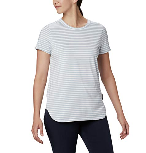 Columbia Firwood Camp II T-Shirt à Manches Courtes pour Femme Firwood CampTM II S, Femme, 1885261, Rayures Blanches Moyennes, S