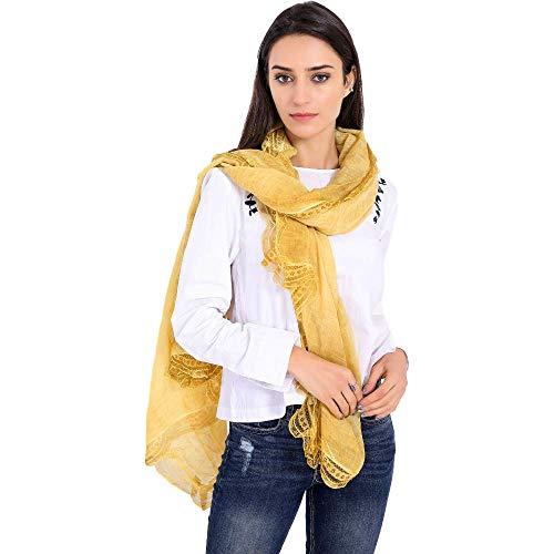 Bufandas de moda, Sra. sección delgada de encaje de algodón de color sólido sección delgada bufanda toalla de playa aire acondicionado