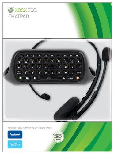 Chatpad Inc Headset - Black (Xbox 360) [Importación inglesa]