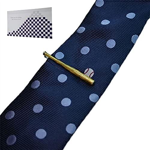 遊び心溢れるタイピン&シルクの高級ネクタイ「野球」 & おもてな紙セット SWANK(スワンク)シルク100%