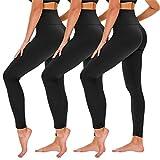 TNNZEET 3 Pack High Waisted Leggings for Women - Buttery Soft Workout Running Yoga Pants