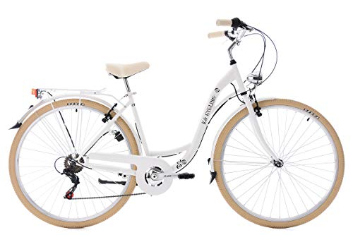KS Cycling Damenfahrrad Cityrad 28'' Casino weiß 6Gänge RH48cm