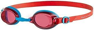 Speedo Jet Junior Kids UV Anti Fog Swimming Goggles (6-14 Years) - Red/Blue