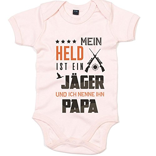 Jäger Premium Babybody Berufe Follow Your Dreams Traumberuf Mädchen Kurzarmbody, Farbe:Babyrosa (Powder Pink BZ10);Größe:0-3 Monate