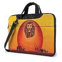 ライオン・キング 1 ノートパソコンバッグ13.14.15.6インチのブリーフケース、パソコンシングルショルダーバッグ、防水携帯バッグ、男性女性バッグ、ビジネス旅行学院パソコンバッグ