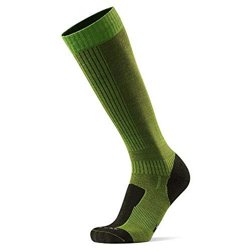 DANISH ENDURANCE Lange Merino Outdoor-Socken mit Zecken- und Mückenschutz 1 Paar (Hellgrün, EU 39-42)