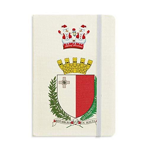 Malta Europe Notizbuch, Motiv: Schneemann, nationales Emblem, dick, Hardcover