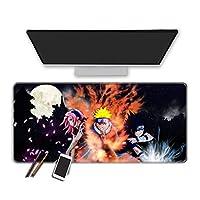 マウスパッド ナルト-アニメマウスパッド大型ゲーミングマウスパッドラップトップ/Pc用滑り止めゴムベースマウスパッド-90X40Cm
