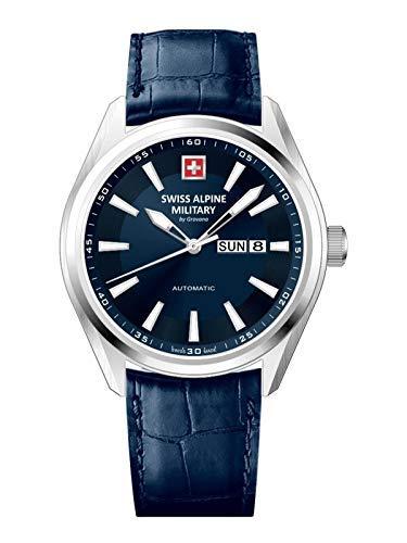 Swiss Alpine Military Reloj de pulsera automático para hombre con cristal de zafiro Selitta SAM 114 7090.2575