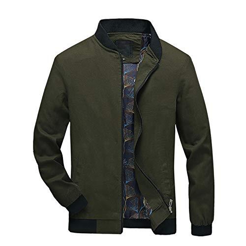 Lisa Billy Jacket Winter New Men's Autumn Pure Color Patchwork Soft Leisure Comfortable et Zipper Outwear Coat Green XL