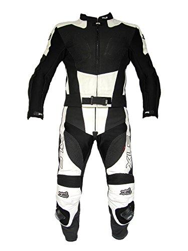 XLS Black White Arrow Lederkombi in Kurzgröße 30 (60) schwarz weiß