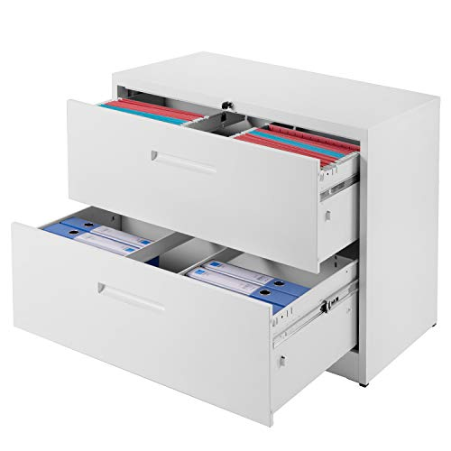 Merax File Cabinet Storage Office Organizer Standing Cabinet with Two Drawer