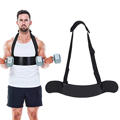 Greensen Bizeps Isolator Arm Blaster Bizeps Bomber mit Verstellbaren Trägern Sports Lifting Straps Bizeps Trainer Arm Curl Isolator Fitness-Zubehör für Bodybuilding Kraftsport Gewichtheben