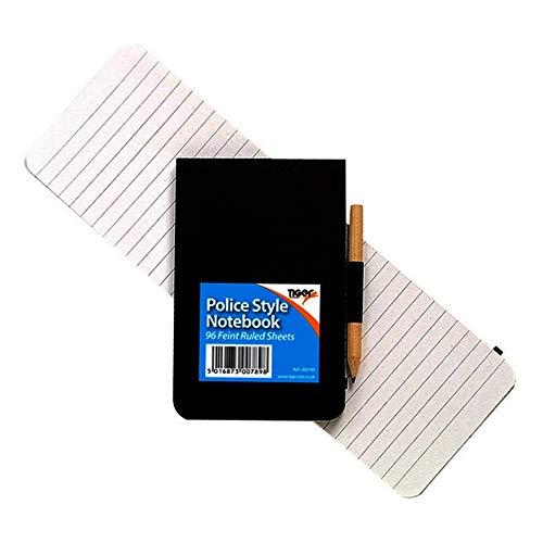 Tiger - Libreta de notas de bolsillo de estilo policial con lápiz