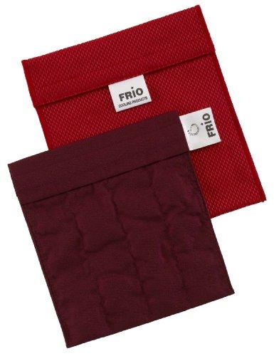 FRIO Kühltasche für Insulin, 14 x 15cm, rot - KEIN Eispack oder Batterien nötig, für eine Kombinationen von Ampullen oder Patronen, KEIN Pen