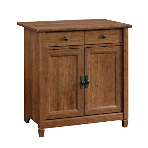 Sauder Edge Water Utility Cart/Stand, Auburn Cherry Finish