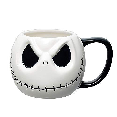 Mouwa Halloween-Becher, Keramik-Kaffeetasse Niedlicher Kürbis-Becher-Milch-Suppen-Becher Mit Deckel Für Kaffee-Hafermehl-Milch Halloween-Weihnachtsneues Jahr