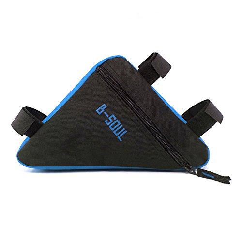 broadroot Dreieck Fahrrad Tasche, Bike Tasche für Front Tube Rahmen Tasche Halterung Sattel, schwarz/blau