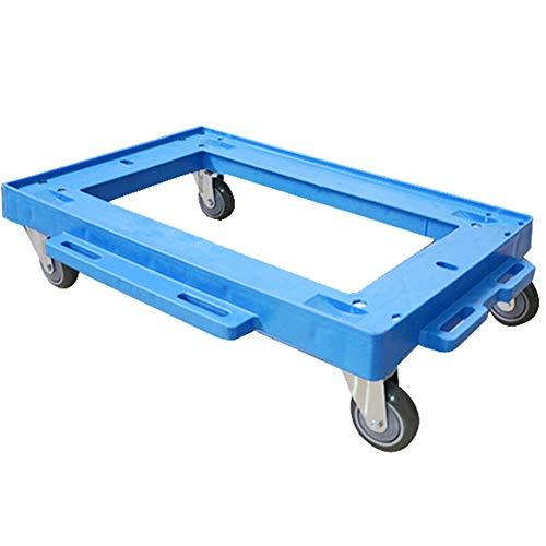 Transportroller Möbelroller ZHAOHUI Möbelhund Roller Rollbrett rutschfeste Bordüre Spleißbar Umzüge Leicht 100 Kg Kapazität PU-Rad, 2 Größen (Color : Blue, Size : 61.5X41X15cm)