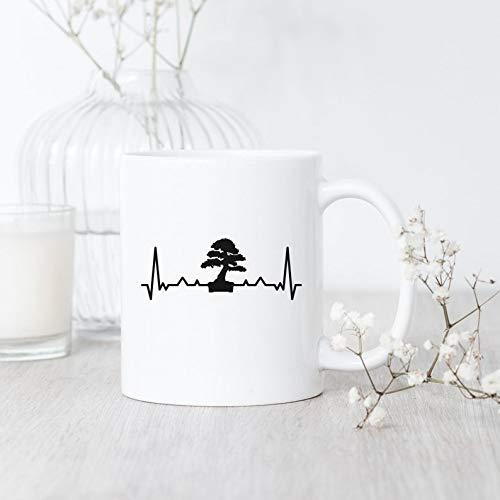 Bonsai Heartbeat / Mug / Funny Bonsai Mug / Gift for Bonsai Lover / Japanese Mug / Bonsai Tree Mug / Bonsai Gardener Gift /Bonsai Coffee Mug