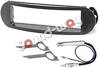 Sound Way 1 DIN Autoradio RadioBlende Radiorahmen, Antennenadapter, Schlüssel, kompatibel mit Volkswagen Beetle