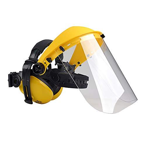 Oregon Q515062 Polycarbonat Visier Gesichts und Gehörschutz Kombination für Trimmer und Freischneider