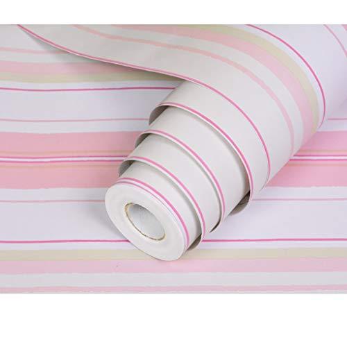 YONGCHONG, zelfklevend behang, PVC, waterdicht en vochtbestendig, decoratieve stickers achtergrond behang, strepen, film (45 cm * 10 mt/volume)
