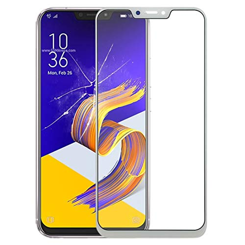 GBHGBH Pantalla Frontal Lente de Cristal Externa for ASUS Zenfone 5 ZE620KL / Zenfone 5Z ZS620KL (Color : Blanco)