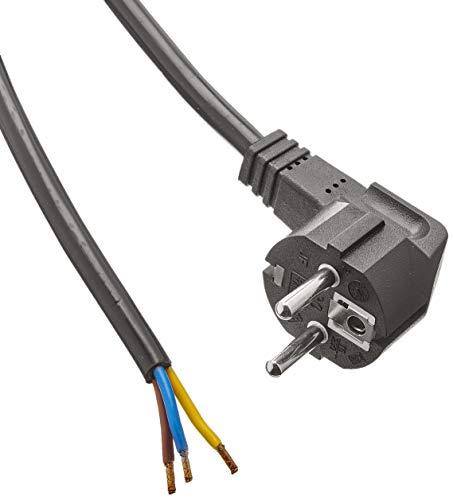 Bachmann 305.174 Schutzkontakt-Zuleitung, Anschlussleitung,schwarz, Länge 2m H05VV-F3G1,5