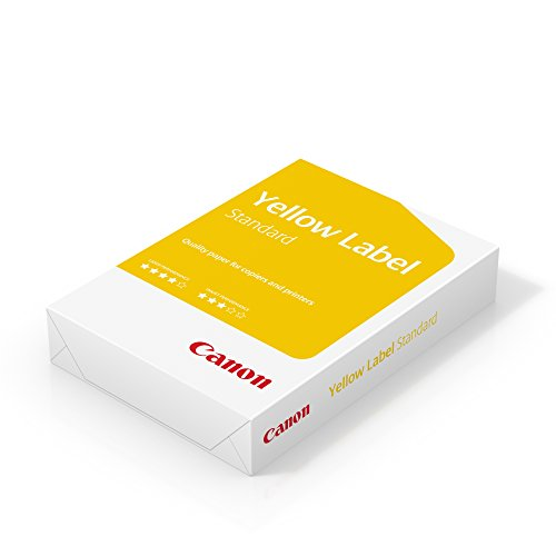 Canon Yellow Label Standard A4 White Printer Paper 80gsm - 1 Ream of 500...