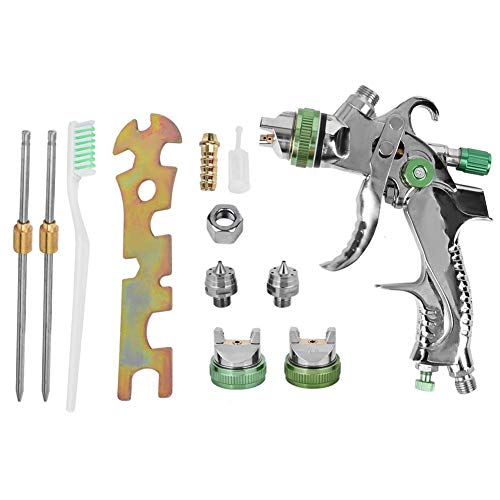 Farbspritzpistolen-Kit, HVLP Airbrush Manuelle Drucklegierung der Aluminiumlegierung Spritzpistole Farbspritzpistolen-Kit(1,4 mm / 2,0 mm)