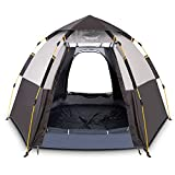 Hewolf Waterproof Instant Camping Tent - 2-3 Person Easy Quick Setup Dome Family Tents for Camping,Double Layer Flysheet Can be Used as Pop up Sun Shade