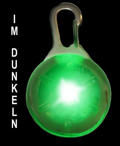 PRECORN Luz Pendiente del LED Collar de la Luz Llevó el Collar de Perro en Verde/Marca