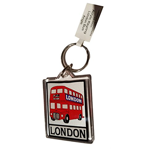 London Route Master - Llavero acrílico de doble piso, dise�