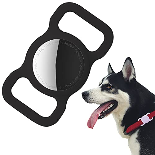 Protective Case Compatible for Airtag GPS Tracker, Fit for Dog Cat Collar Accessories Pet Loop Holder, Silicone Protective Case...