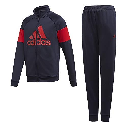 adidas YB TS Bos, Tuta Sportiva Unisex Bambini, Legion/Scarlet, 9/10A