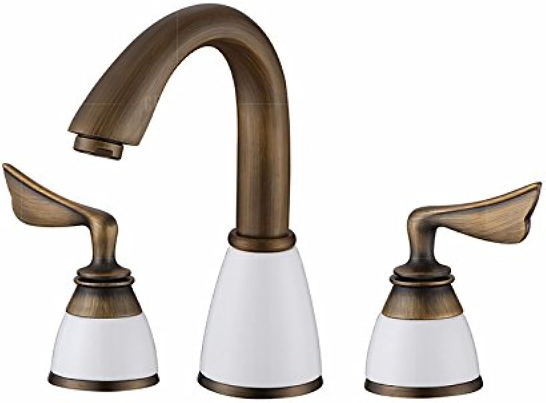 STAZSX Europische indoor Bronze Wasserhahn warmes und kaltes Waschtischarmatur tippen Küchenarmaturen, antike Zeichnung 2
