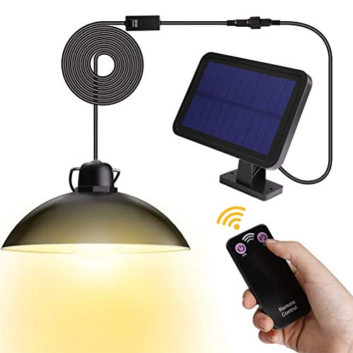 Outdoor Solar Lights Waterproof LED Shed Light with Remote Control Adjustable Solar Garden Lamp Decorative Lighting for Garden, Home, Wedding, Party