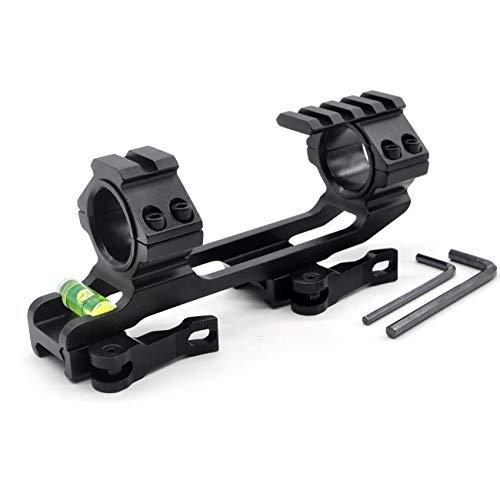 TRIROCK Support de Lunette Tactique avec Picatinny Tops et Niveau à Bulles en 1 pièce de 5,1 cm de décalage QR/QD pour Weaver/Picatinny Rails Support pour Bague 30 mm et 25 mm